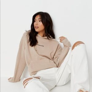 NWT Missguided Petite stone washed hoodie Sz 10P